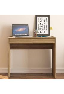 Mesa Para Computador Com 2 Gavetas Tijuca - Politorno - Castanho