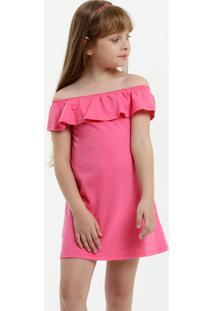 Vestido Infantil Ombro A Ombro Textura Marisa