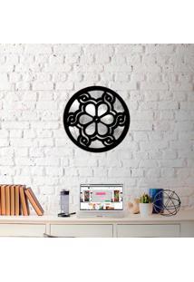 Escultura De Parede Wevans Mandala Beautiful + Espelho Decorativo