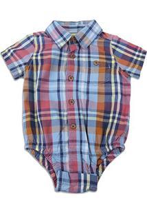 Body Infantil Gap Xadrez Bebê Masculino - Masculino