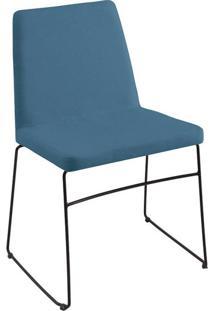 Cadeira Paris Linho Azul Jeans