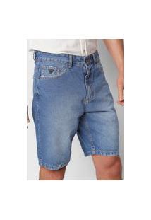 Bermuda Jeans Guess Reta Inter Azul