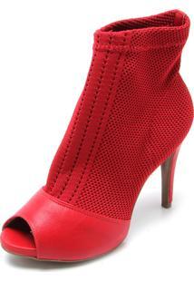 Open Boot Bebecê Malha Vermelho