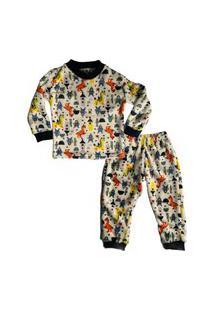 Pijama Infantil Fleece Atoalhado Dragão