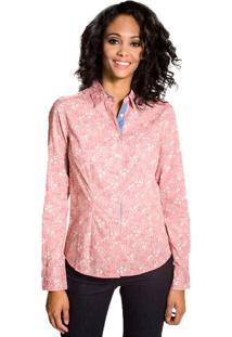 Camisa Slim Floral Colcci