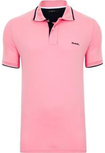 Camisa Pólo Rosa Cha masculina  b235cd2e0ee4c