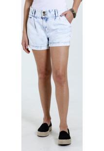 Short Feminino Jeans Marmorizado Marisa