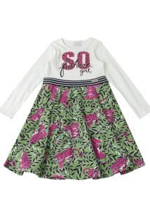 Vestido Momi Manga Longa Multicolorido