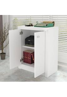 Armário Para Escritório Baixo 2 Portas Branco Me4103 - Tecno Mobili