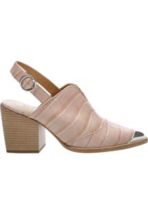 Babuche New Western Croco Rose | Schutz