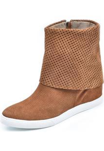 Tênis Sneaker Scarpan Calçados Finos Camurça Mel