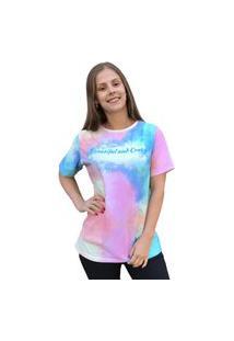 Camiseta Tie Dye Olimpo Estampada Manga Curta Colorida