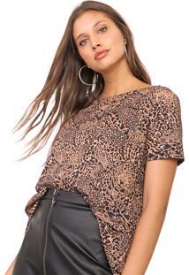 Camiseta My Favorite Thing(S) Mullet Onça Bege/Preta