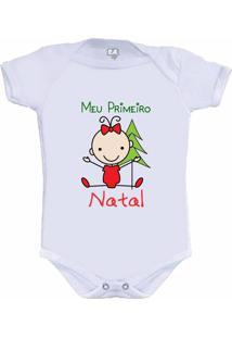Body Meu Primeiro Natal Menina Camiseteria S.A. Branco