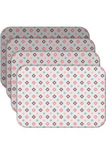 Jogo Americano Love Decor Quadrados Kit Com 4 Peças - Kanui