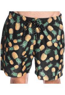 Bermuda Long Island Pineapple Masculina - Masculino-Preto