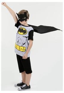 Pijama Infantil Batman Manga Curta Liga Da Justiça