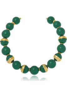 Colar Choker Le Diamond Abdala Verde - Tricae