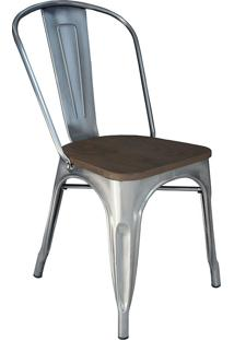Cadeira Em Aço Mkc-001-Marka Móveis. - Metalizada