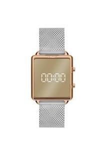 Relógio Euro Feminino Prata Digital Eujhs31Baq4D