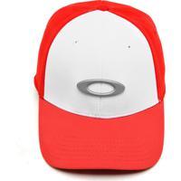 Boné Oakley Elástico Tincan Cap Vermelho Branco 5ac9c87bbe0