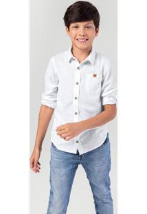 Camisa Infantil Menino Em Tecido Com Botões - Tal Pai Tal Filho Hering Kids