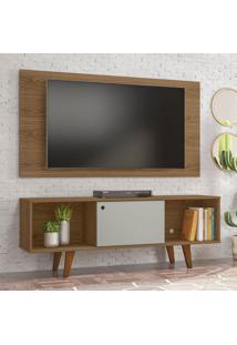 Rack Com Painel Para Tv Até 42 Polegadas Salahfreijo E Off White 135 Cm