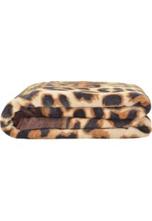 Cobertor Jolitex Casal Kyor Plus Leopardo Marrom