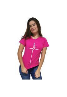 Camiseta Feminina Cellos Fé Premium Rosa