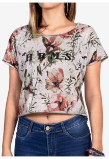 Cropped Floral Mescla 800020