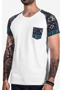 Camiseta Hermoso Compadre Raglan Etnica Masculina - Masculino-Branco 533e487145b