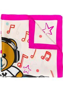 Moschino Lenço Com Logo Dj Teddy - Rosa