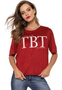Camiseta My Favorite Thing(S) Suede Tbt Vermelha