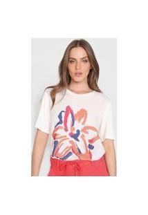 Camiseta Maria Valentina Recorte Branca