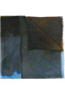 Stella Mccartney Echarpe 'Running Horse' - Azul