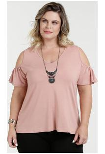 82203e72f Blusa Feminina Open Shoulder Plus Size Luktal
