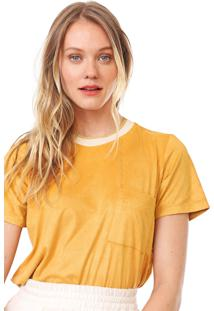 Camiseta Dress To Suede Bolso Amarela