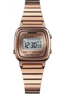 Relógio Skmei Digital 1252 Feminino - Feminino-Rose Gold