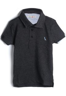 Camisa Reserva Mini Infantil Lisa Grafite