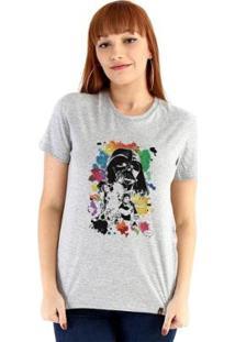 Baby Look Ouroboros Star Wars Feminino - Feminino-Cinza