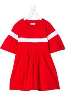 Monnalisa Vestido Com Aplicação - Vermelho