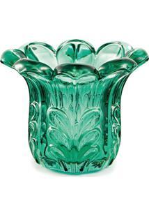 Vaso Em Relevo- Verde Escuro- 8Xø10Cm- Martmart