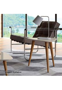 Mesa Lateral Vik- Off White & Natural- 50,5X51X48,5Cprovincia