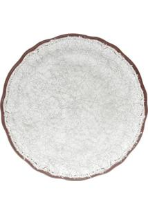 Sousplat Melamina- Branco & Marrom- Ø35Cmbon Gourmet