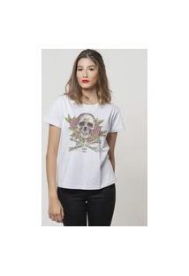 Camiseta Jay Jay Basica Boho Chic Branca Dtg