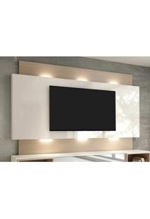 Painel Para Tv 58 Polegadas Com Led Morisot Ii Off White E Natural