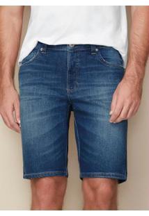 Bermuda Azul Tradicional Jeans Estonado Malwee