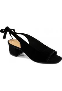 Sandália Peep Toe Bico Quadrado Slingback Via Uno 482030