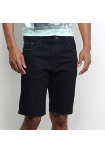 Bermuda Jeans Acostamento Masculina - Masculino-Azul
