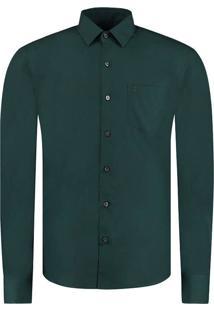 Camisa Vr Lisa Tinturada Ml Verde